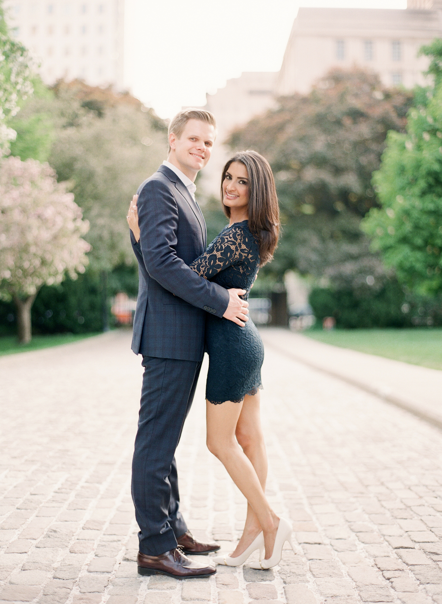 Cherry Blossom Engagement at Osgoode Hall | Neema & Austin | photo by: ARTIESE