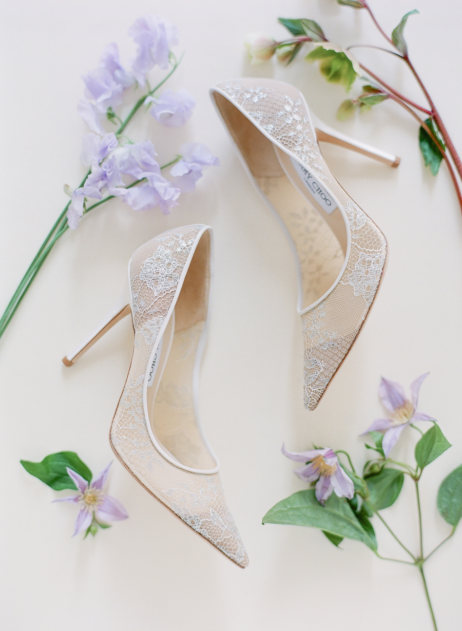 Jimmy Choo wedding shoes white lace