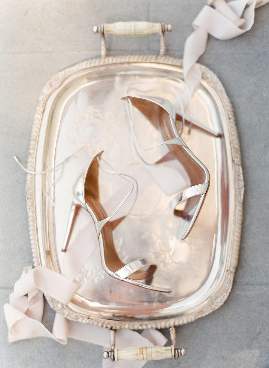 Aquazzura Linda Metallic Strappy Sandals